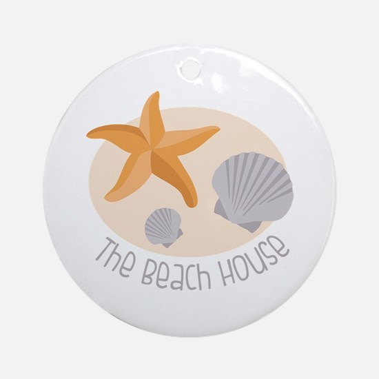 The Beach House Ornament (Round)