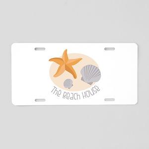 The Beach House Aluminum License Plate