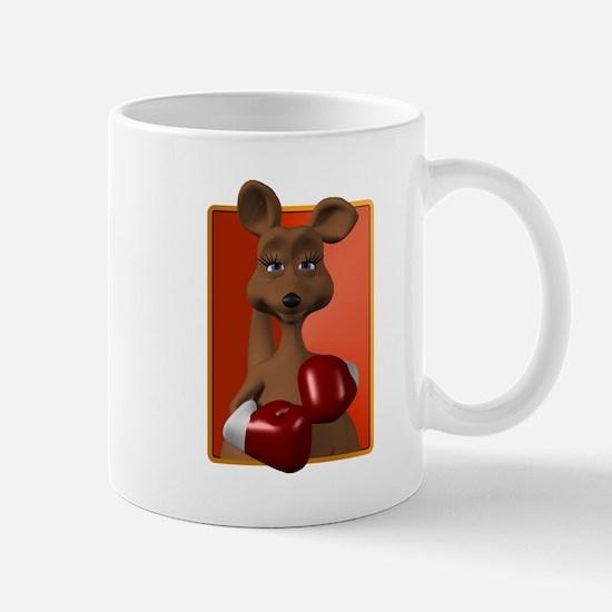 Kangaroo With Boxing Gloves Mug