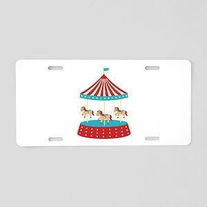 Circus Horse Carousel Ride Aluminum License Plate