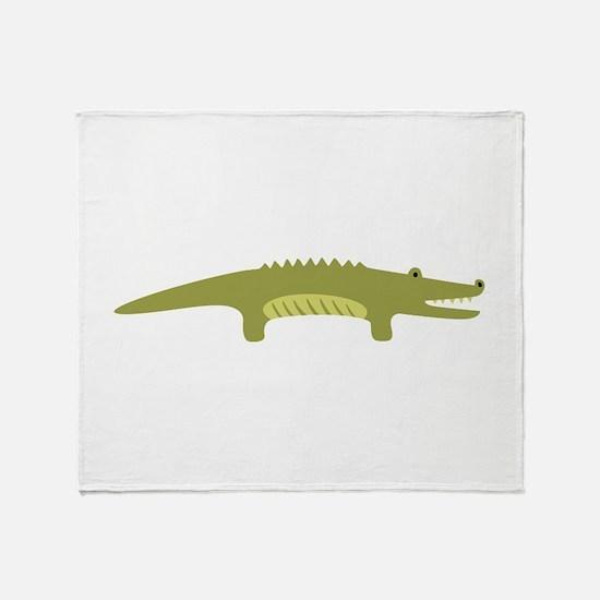 Alligator Animal Throw Blanket