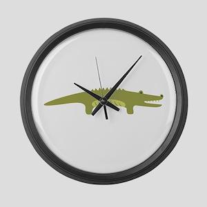 Alligator Animal Large Wall Clock