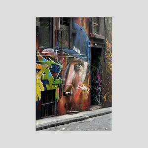 Melbourne Street Art Graffiti AWO Rectangle Magnet