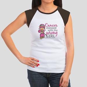 Combat Girl Breast Canc Women's Cap Sleeve T-Shirt