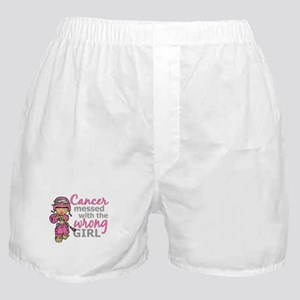 Combat Girl Breast Cancer Boxer Shorts