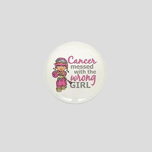 Combat Girl Breast Cancer Mini Button
