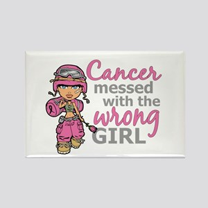 Combat Girl Breast Cancer Rectangle Magnet
