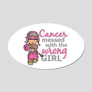 Combat Girl Breast Cancer 20x12 Oval Wall Decal