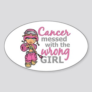 Combat Girl Breast Cancer Sticker (Oval)