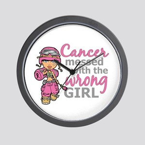 Combat Girl Breast Cancer Wall Clock