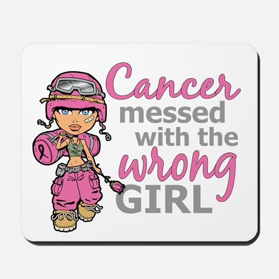 Combat Girl Breast Cancer Mousepad