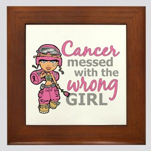 Combat Girl Breast Cancer Framed Tile