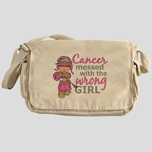 Combat Girl Breast Cancer Messenger Bag