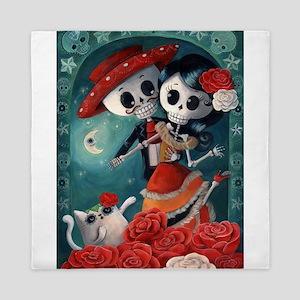 Dia de Los Muertos Mexican Lovers Queen Duvet