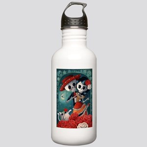 Dia de Los Muertos Mexican Lovers Water Bottle