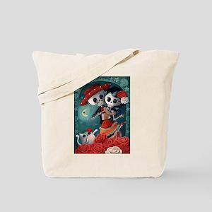 Dia de Los Muertos Mexican Lovers Tote Bag