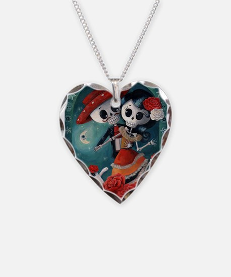 Dia de Los Muertos Mexican Lovers Necklace