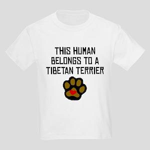 This Human Belongs To A Tibetan Terrier T-Shirt