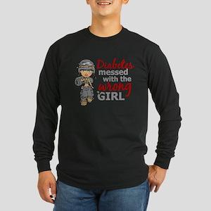 Combat Girl Diabetes Long Sleeve Dark T-Shirt