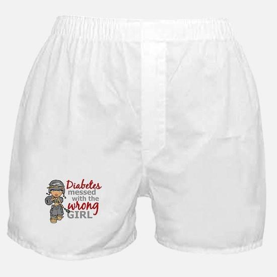 Combat Girl Diabetes Boxer Shorts