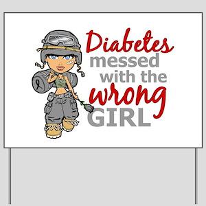 Combat Girl Diabetes Yard Sign