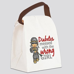 Combat Girl Diabetes Canvas Lunch Bag