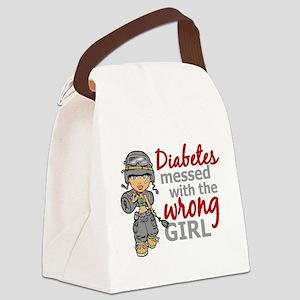 Combat Girl Diabetes Canvas Lunch Bag
