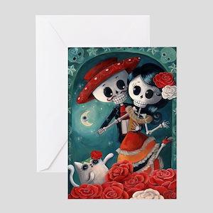 Dia de los muertos greeting cards cafepress dia de los muertos mexican lovers greeting cards m4hsunfo