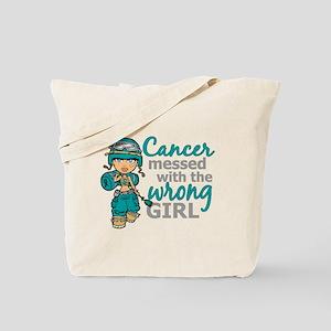 Combat Girl Ovarian Cancer Tote Bag