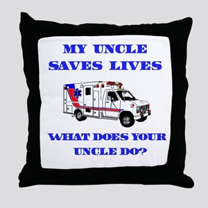 Ambulance Saves Lives-Uncle Throw Pillow