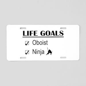 Oboist Ninja Life Goals Aluminum License Plate