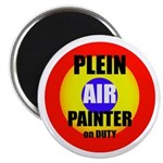 "Plein Air Painter on Duty 2.25"" Magnet (10 pack)"