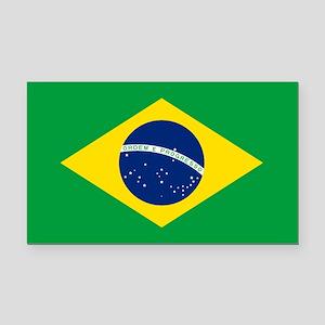 Brazil Flag Rectangle Car Magnet