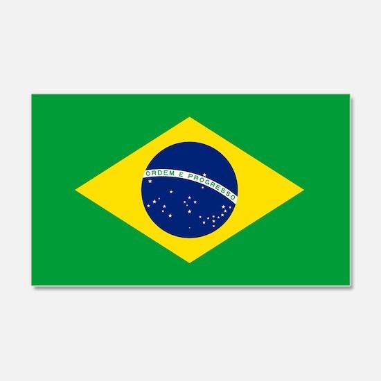 Brazil Flag Wall  Decal Sticker