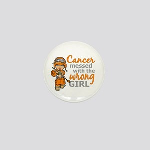 Combat Girl Leukemia Mini Button