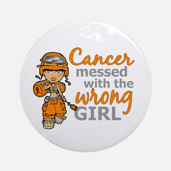 Combat Girl Leukemia Ornament (Round)