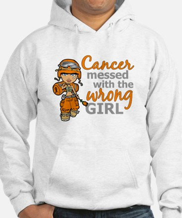 Combat Girl Kidney Cancer Hoodie