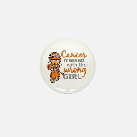 Combat Girl Kidney Cancer Mini Button