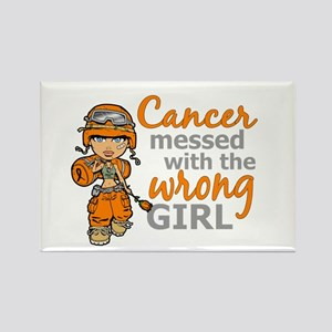 Combat Girl Kidney Cancer Rectangle Magnet