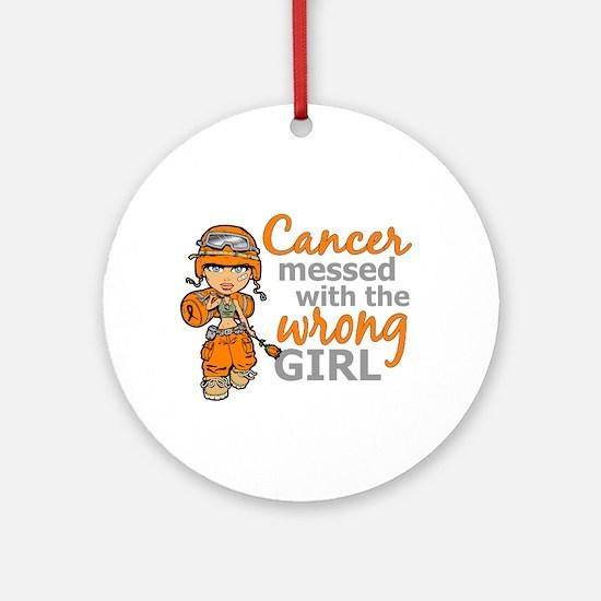 Combat Girl Kidney Cancer Ornament (Round)