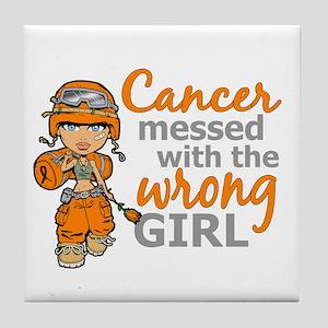 Combat Girl Kidney Cancer Tile Coaster