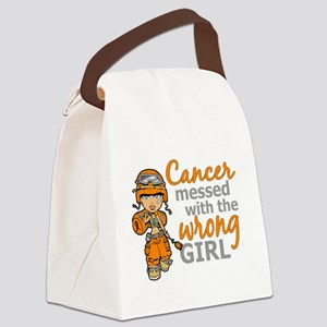 Combat Girl Kidney Cancer Canvas Lunch Bag