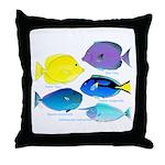 5 Unicornfish Surgeonfish Throw Pillow