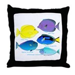 5 Unicornfish Surgeonfish Throw Pillow