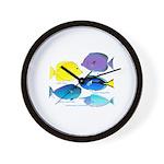 5 Unicornfish Surgeonfish Wall Clock
