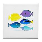 5 Unicornfish Surgeonfish Tile Coaster