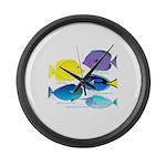 5 Unicornfish Surgeonfish Large Wall Clock