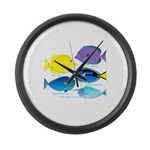 5 Unicornfish Surgeonfish Large Wall Clock