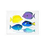 5 Unicornfish Surgeonfish 5'x7'Area Rug
