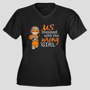 Combat Girl Women's Plus Size V-Neck Dark T-Shirt